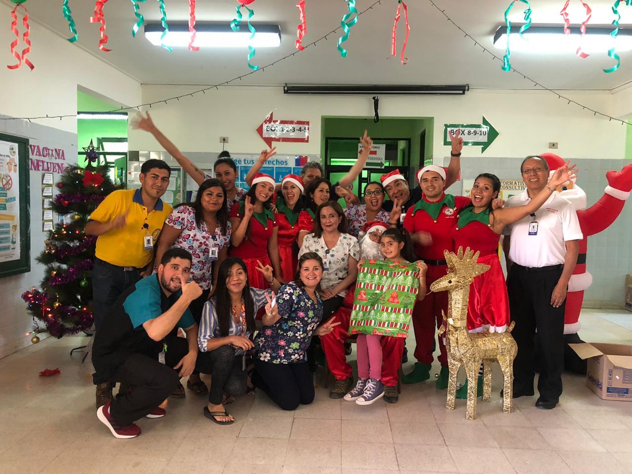 Se realiza una nueva versión de la fiesta anual de Navidad organizada por el CESFAM El Palqui
