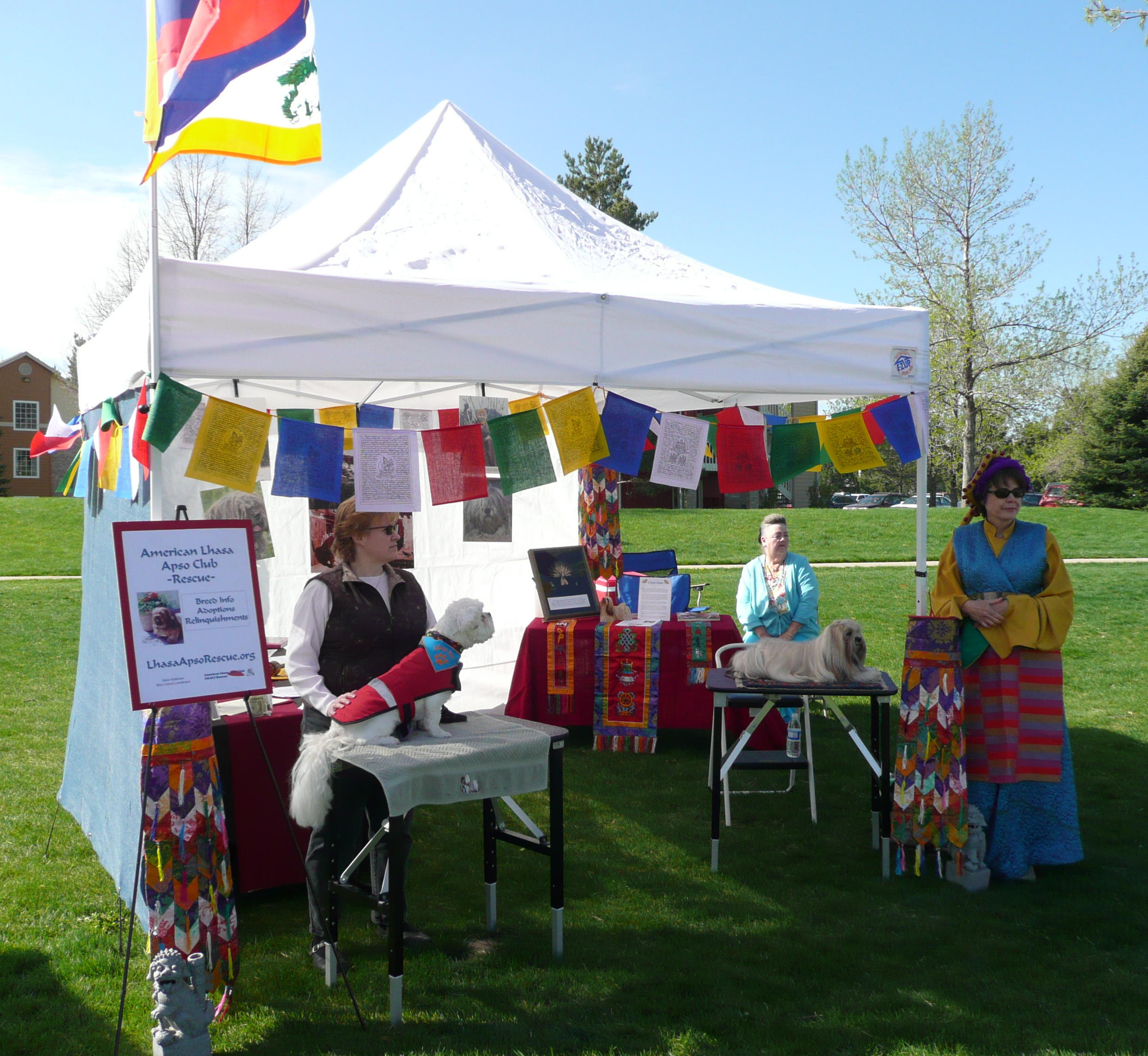 Susan, right, in traditional Tibetan garb