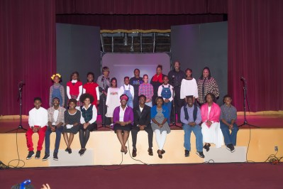 "Young actors of the ""Make it Happen"" Performing Ensemble perform A.G. Gaston: The Man, The Mogul and His Mission"