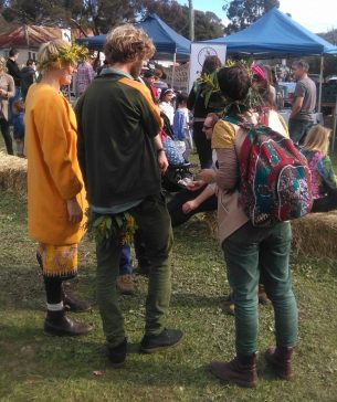 Entering into the spirit of the Wattle Festival