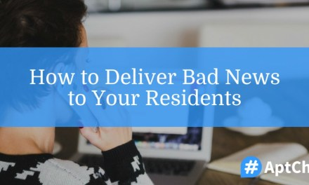 How to Deliver Bad News to Residents