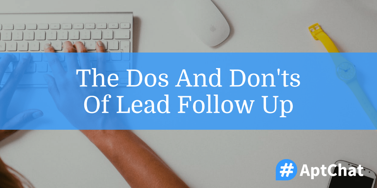 The Dos And Don'ts Of Lead Follow-Up