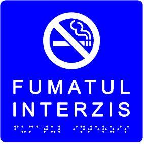 placuță tactilă indicator fumatul interzis