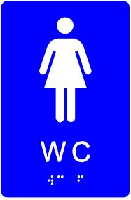 plăcuță tactilă indicator WC femei