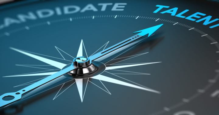 Image suitable for illustration of a recruitment agency or talent acquisition. Abstract compass