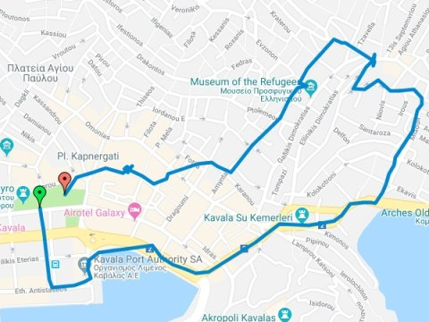 χάρτης για βόλτα Νοεμβρίου 2018