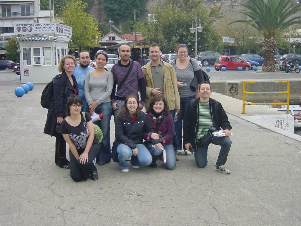 Bookcrossers της Θεσσαλονίκης στο λιμάνι της Καβάλας