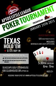 Aptos Little League Poker Tournament