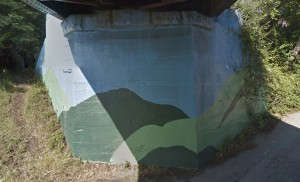 Mural at Spreckels Drive and Soquel Drive in Aptos