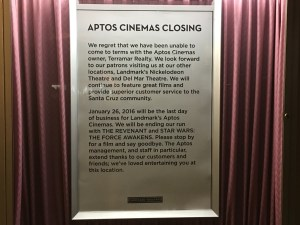Final Curtain Call at the Aptos Cinema