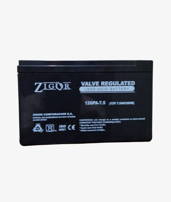 Zigor 7.5Ah Maintenance Free Battery
