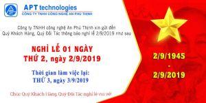 Thông báo nghỉ lễ Quốc Khánh 2/9/2019