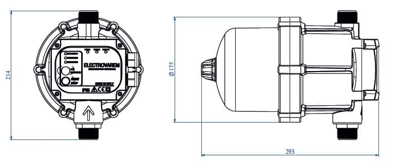 kích thước bộ điều khiển electrovarem