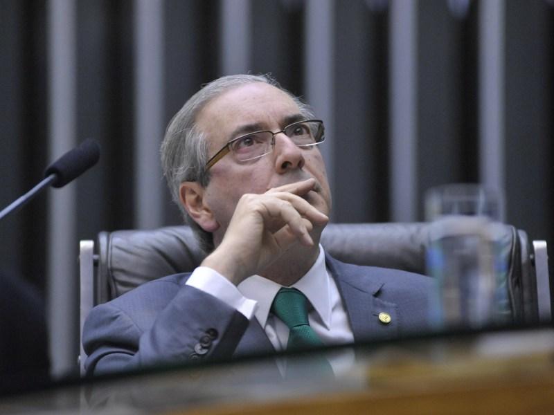O presidente da Câmara, Eduardo Cunha (PMDB-RJ), em sessão na Câmara.