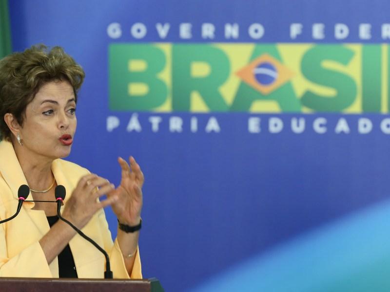 Presidente Dilma durante recepção à Delegação Brasileira da WorldSkills 2015.