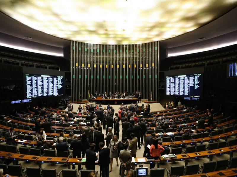 Plenário da Câmara, em junho, ao aprovar urgência para projeto sobre responsabilidade das estatais