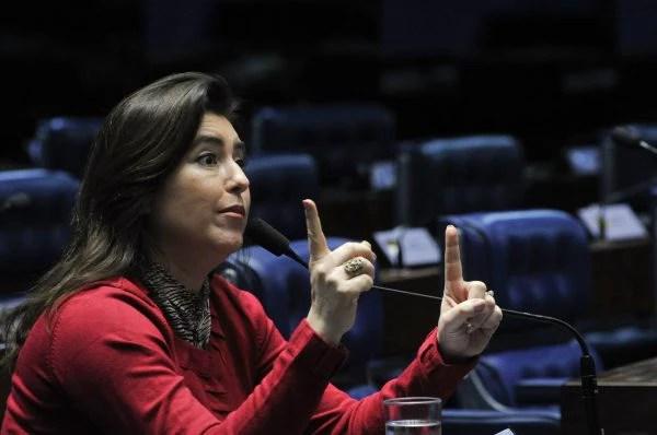 A senadora Simone Tebet (PMDB-MS), que usou dado não baseado em estatísticas oficiais