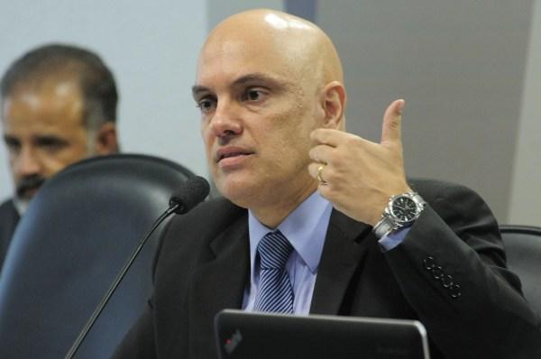 Alexandre de Moraes, durante sabatina no Senado