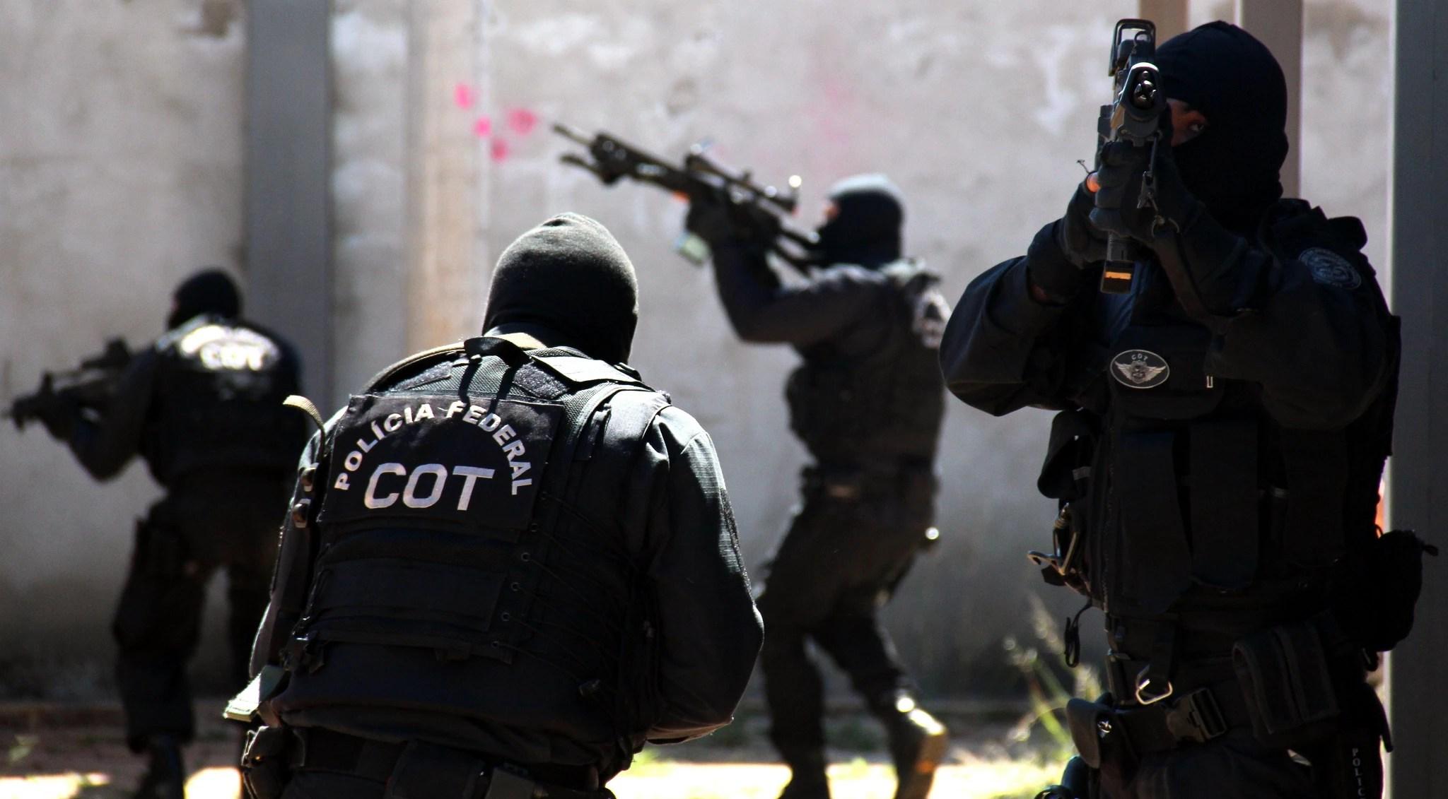 Agentes do Comando de Operações Táticas, da Polícia Federal: efetivo da corporação tem sido um dos tópicos abordados pelos candidatos