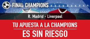 apuestas legales Sportium Final Champions Apuesta sin Riesgo