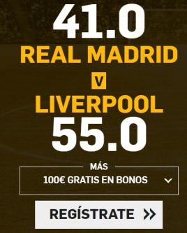 apuestas legales Supercuota Betfair Champions League Real Madrid - Liverpool