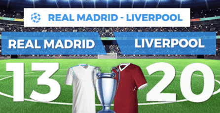 apuestas legales Supercuota Paston Final Champions Real Madrid - Liverpool