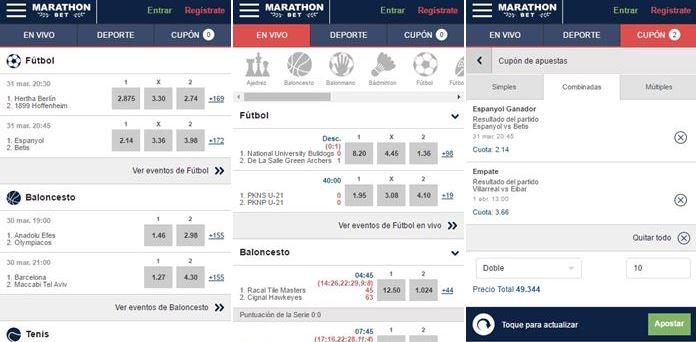 Marathonbet estrena app para el móvilEsta casa de apuestas ya no se conforma con tener las mejores cuotas sino ahora va a por la mejor app para dispositivos móviles.