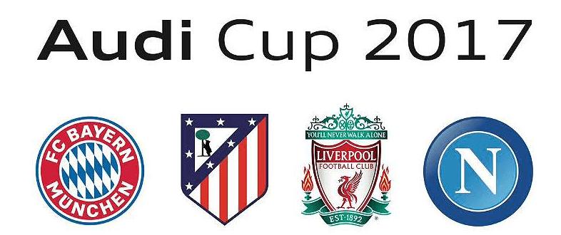 Atlético vs Nápoles Copa Audi 2017Bayern Munich vs Liverpool será la otra semifinal de este prestigioso torneo de pretemporada