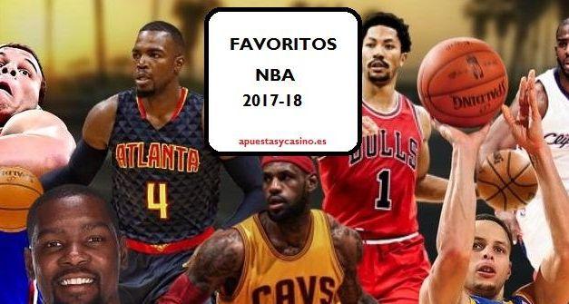 Favoritos a ganar NBA 2017/18