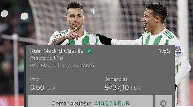 Apuesta 50 céntimos y gana más de 9 mil eurosSu equipo del alma el Betis le da esta satisfacción en el último encuentro de su combinada