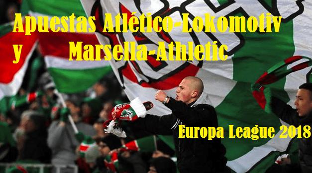 Apuestas Atlético-Lokomotiv y Marsella-Athletic