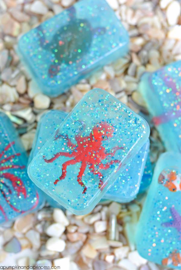 DIY Glitter Soap