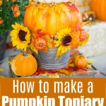Diy Pumpkin Topiary A Pumpkin And A Princess