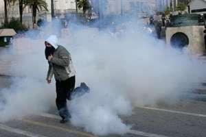tear gas greece