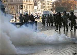 tear gas chile