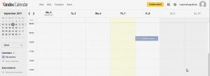 Calendario Yandex