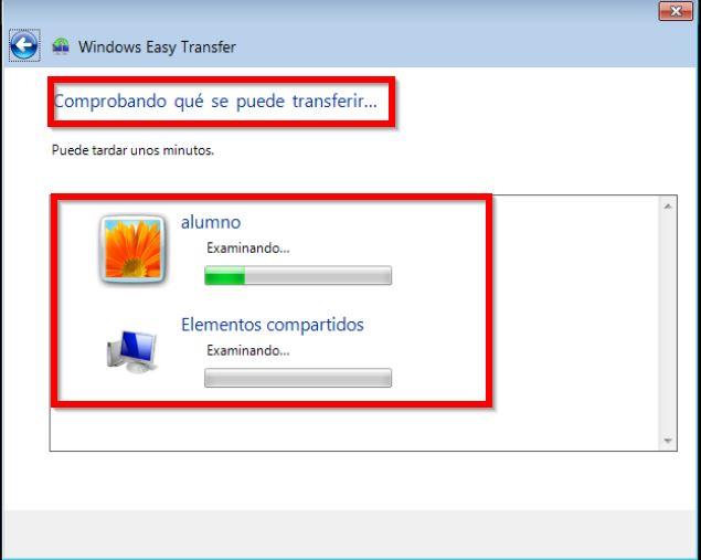 Transferir archivos equipo anterior