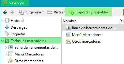 exportar tus marcadores de Google Chrome