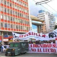 Marchar por avenida Pedro Montt