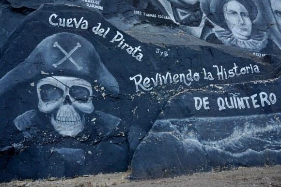 Mural en la Cueva del Pirata