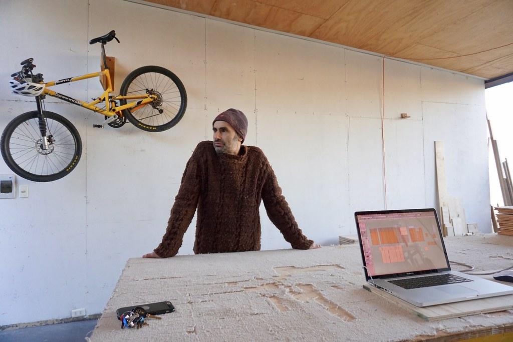 Sergio Muñoz en su taller de Dinamarca 399