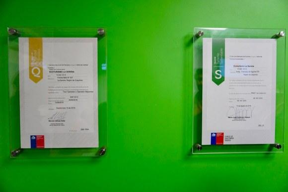 Certificados de Calidad y Sustentabilidad de Ecoturismo La Serena