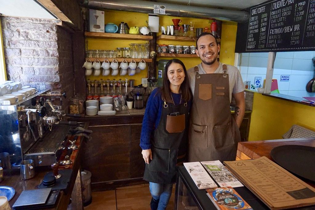 Heidy Gómez y Óscar Hormazabal, Café 504