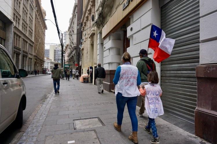 Manifestaciones del 23 de octubre en Valparaíso
