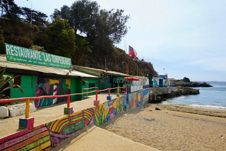Restaurante Las Torpederas. Playa Ancha, Valparaíso