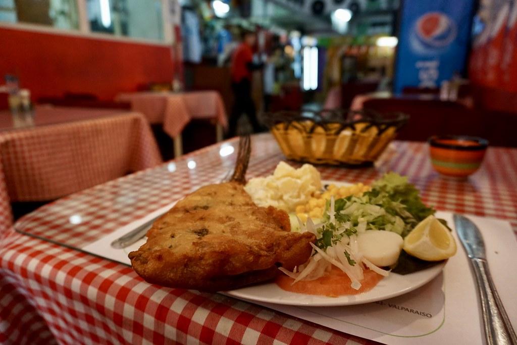 Merluza frita en Restaurante Doris
