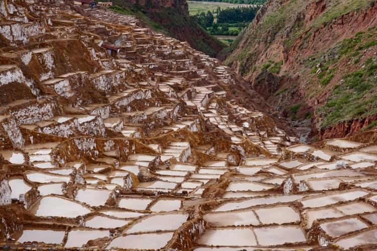 Salineras de Maras después de la lluvia