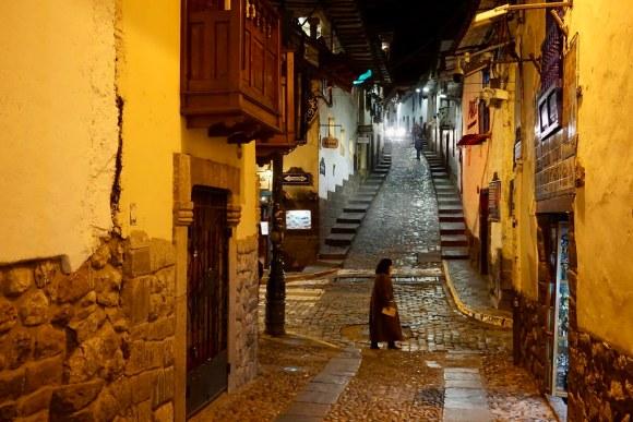 Calles de Cusco en la noche
