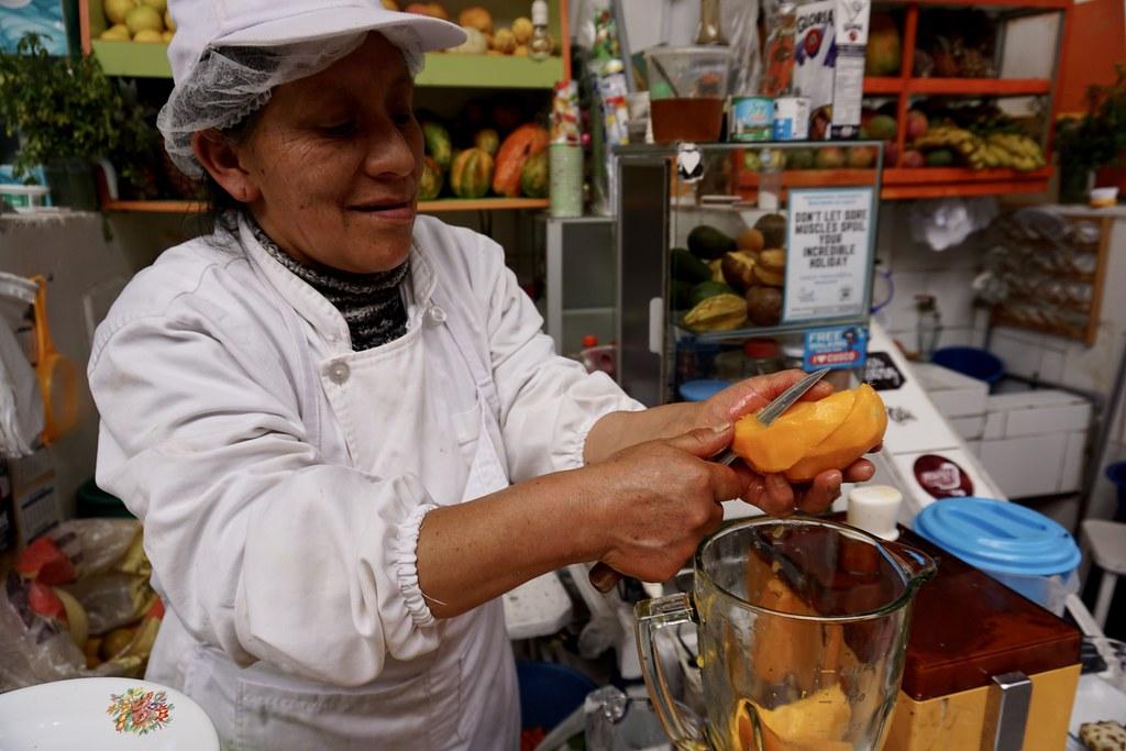 Jugos naturales en Mercado de San Blas