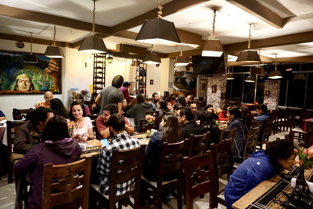 Reparadora cena en restaurante de Aguas Calientes